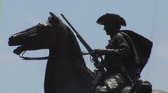 Texas Ranger statue Stock Footage