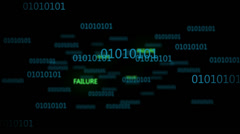 Binary Code 003 - Failure - 25 fps - stock footage