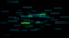 Binary Code 003 - Happines - 30 fps - stock footage