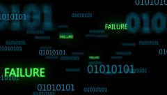 Binary Code 003 - Failure - 30 fps - stock footage
