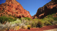 Zion Dolly LM08 Kolob Canyon Stock Footage
