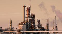 Oil refinery in the day Stock Photos