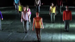 Modern ballet group performance audio Stock Footage