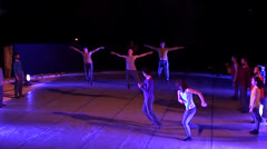 Modern ballet onstage 3 Stock Footage
