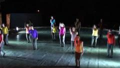 Modern dance group performance Stock Footage