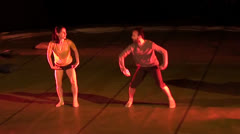 Pas de deux ballet performance 2 Stock Footage
