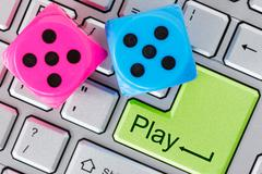 online gaming concept - stock photo