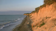 Stock Video Footage of Summer Evening at High Coast - Northern Germany, Baltic Sea