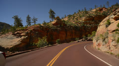 Zion Driving LM07 Vehicle Shot Stock Footage