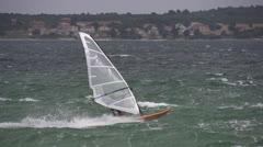 SLOW MOTION: Windsurfing Stock Footage