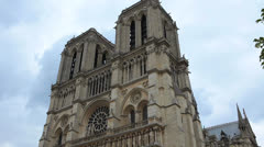 Notre Dame Cathedral 14  - Paris, France Stock Footage