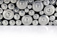 Stack of batteries Stock Photos
