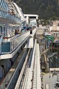 Cruise ship passengers Juneau Alaska port Stock Photos