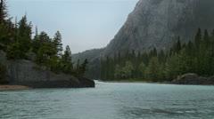 Banff River Rain Stock Footage