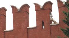 Kremlin Wall Merlons Stock Footage