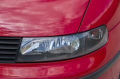 Headlight of a car Stock Photos