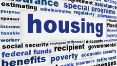 Housing social issue creative animation Stock Footage