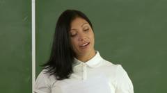 Class 02 - CU teacher d note Stock Footage