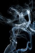 Candle smoke odor Stock Photos