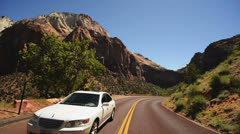 Zion Driving LM21 Vehicle Shot Stock Footage