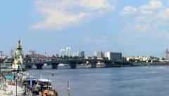 Dnipro bridges Stock Footage