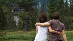 Mountain couple 1 Stock Footage