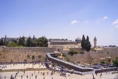 Wailing wall in jerusalem Stock Photos