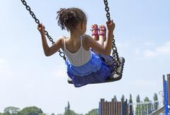 Little Child Playing - stock photo