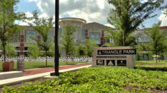 Triangle park in downtown Lexington, Kentucky Stock Footage