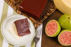 Guava sweet, goiabada Stock Photos