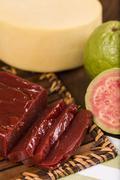 guava sweet, goiabada - stock photo