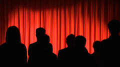 Theater curtains Stock Footage
