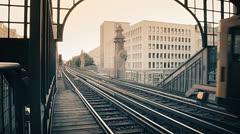 Berlin U-Bahn Bulowstrasse Schöneberg - stock footage