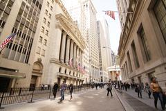 Wall Street - New York City - stock photo