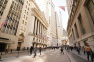 Stock Photo of Wall Street - New York City