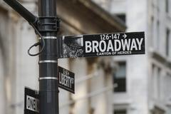 Broadway Sign - New York City Stock Photos