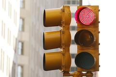 Traffic Light - Red - stock photo