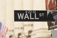 Wall Street Sign- New York City Stock Photos