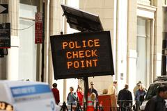 Police Check Point - New York City Stock Photos