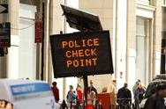 Stock Photo of Police Check Point - New York City