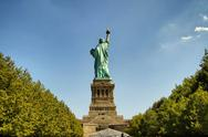 Stock Photo of Statue of Liberty - from behind