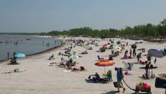 Canadian Beach view @ Grand Beach Provincial Park Manitoba, CA Stock Footage