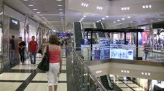 Modern shopping center in Antalya, Turkey Stock Footage