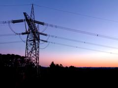 very high voltage power - stock photo