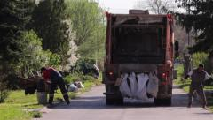 Waste Collectors Stock Footage