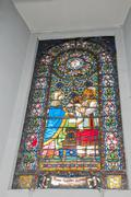 colored window - stock photo