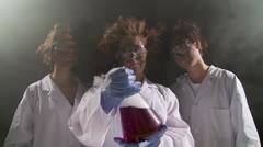 Lab girls 1 Stock Footage