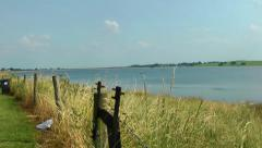 Beauty of Rural Countryside Landscape with Water Stock Footage