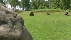 Ancient Civilisations Stone Circle Hendge - stock footage