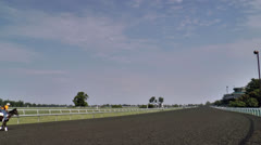 Horses practicing at Keeneland race track in Lexington Stock Footage